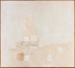 'White', Italian, abstract oil painting from 1965 by Piero Sadun