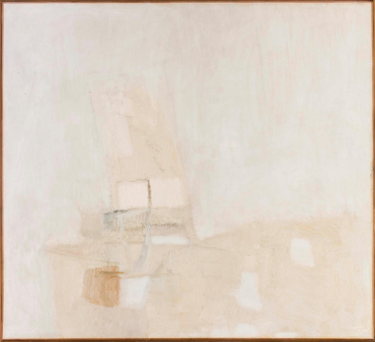 Piero Sadun (Spanish, 1919 – 1974) White, 1965 Oil on canvas 35.1/2 x 39.1/2 in.  ( 90.2 x 100 cm.) Signed 'Piero' (on the reverse)  This painting comes from the more interesting part of Sadun's career while exhibiting with the likes of Victor