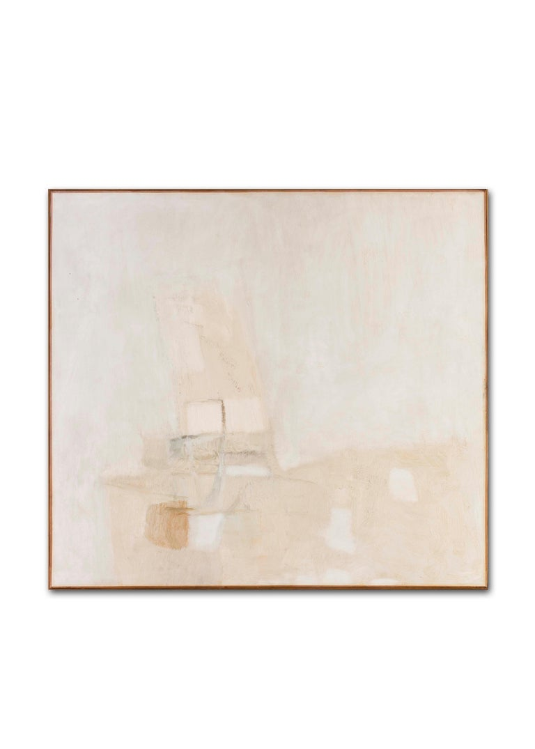 'White', Italian, abstract oil painting from 1965 by Piero Sadun  For Sale 6