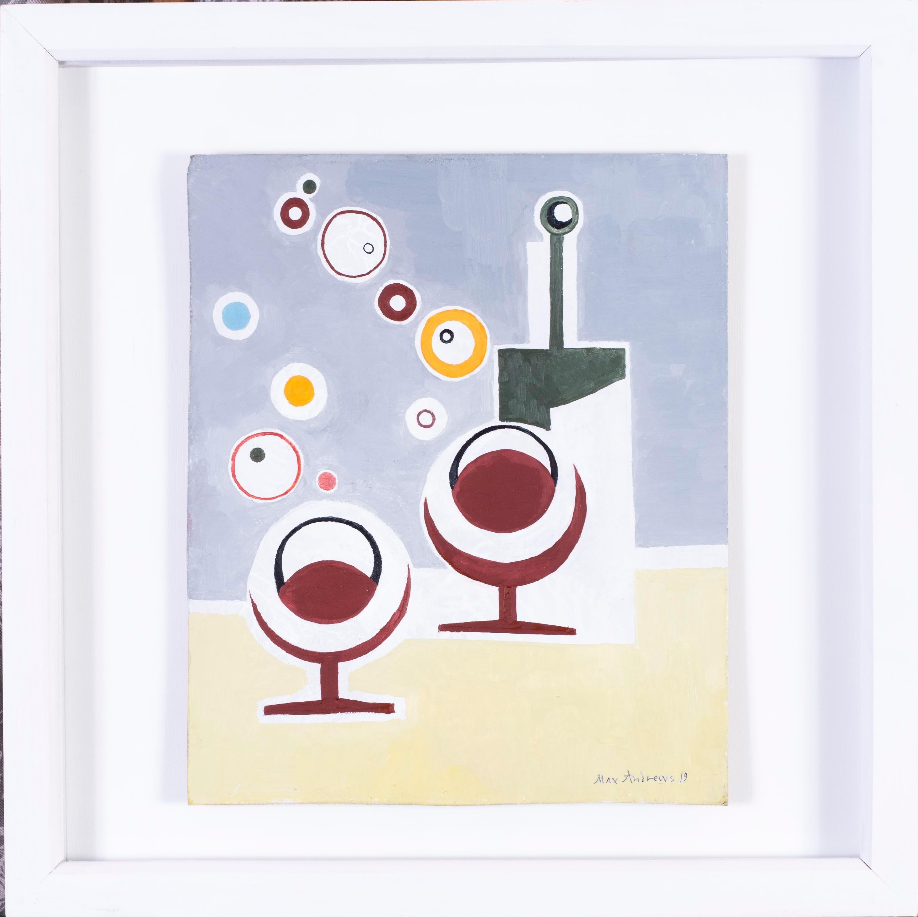 British, 21st Century abstract still life 'Booze Bubbles'