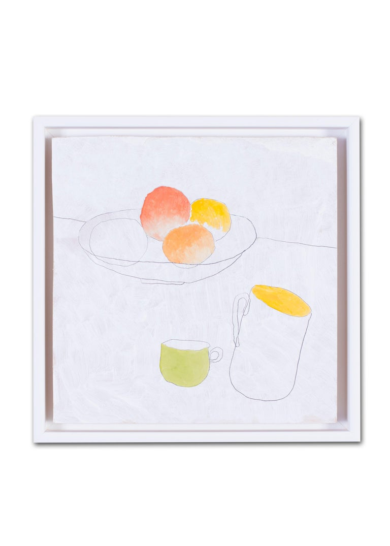 British, 21st Century abstract still life 'Fruit and cups' For Sale 1