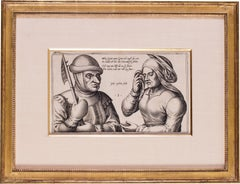 A 17th Century Dutch engraving 'Mein Greit; Mein Greit'