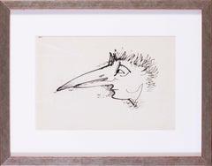 German Expressionist drawing by Carl Hofer 'Birdman'