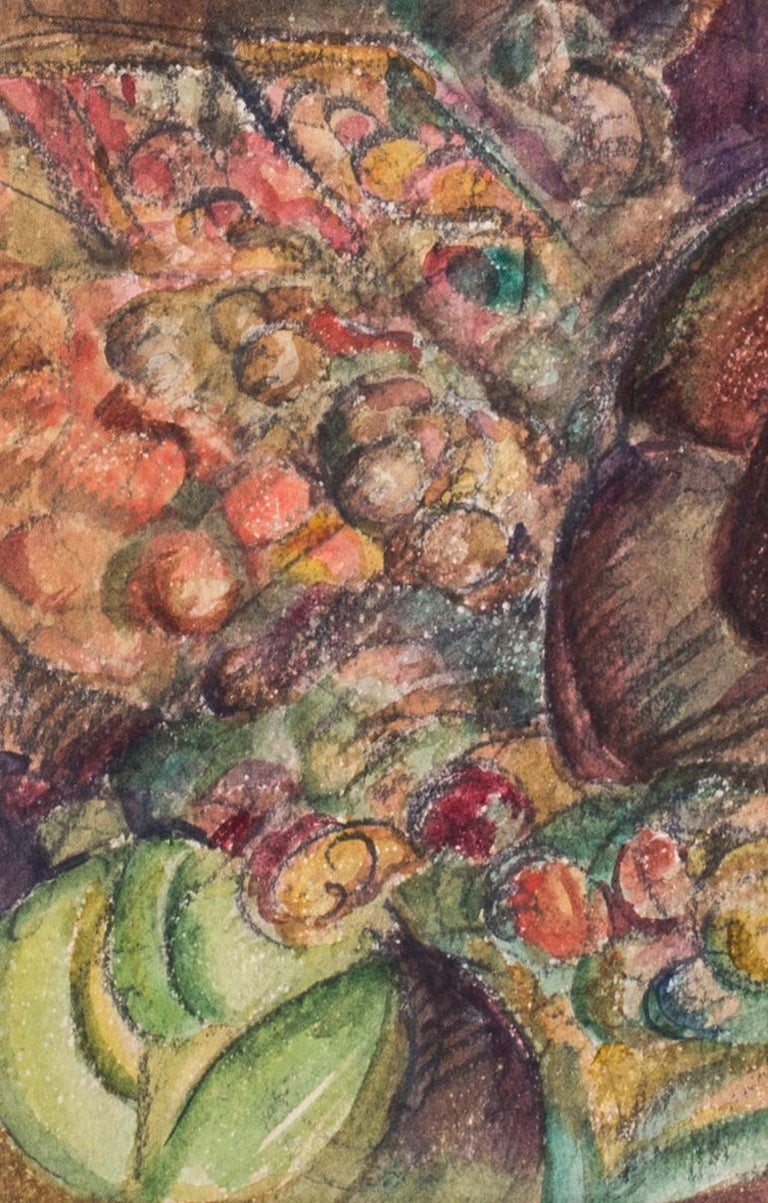 Vladimir Pavlovich Nechoumoff (Russian, c. 1900 – 1977) Turkish fruit sellers, Istanbul Pencil and watercolour on paper 9 x 13.5/8 in. (22.8 x 34.5 cm.)  Figurative painter, illustrator Vladimir Pavlovich Nechoumoff studied at the Kharkov School of