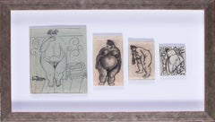 Russian, early 20th century drawings of voluptuous women