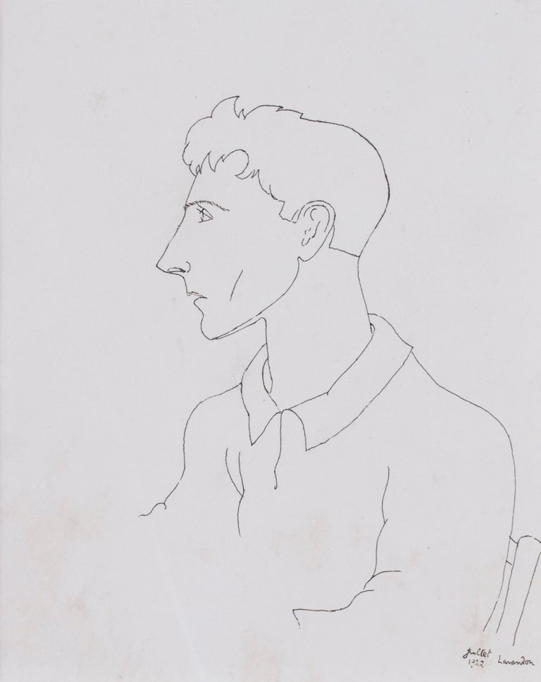Jean Cocteau (French, 1889 – 1963) Self portrait, Le Voyageur dans les glaces (the traveller in the ice) Executed in 1922 Inscribed and dated 'Juillet 1922, Lavandon' (lower right) Indian Ink on paper 9.1/2 x 7.1/2 in. (24 x 19 cm.) Bibiography: