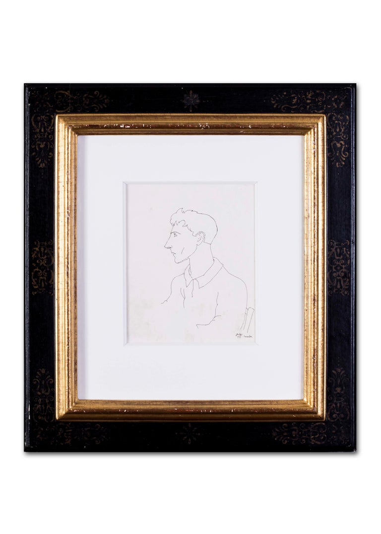 Early Jean Cocteau, Self Portrait, ink drawing, 1922 For Sale 5