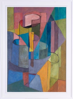 Mid 20th Century French abstract painting 'Les rouleaux'