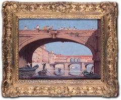 Boatmen on the Arno before the Ponte Vecchio, Florence