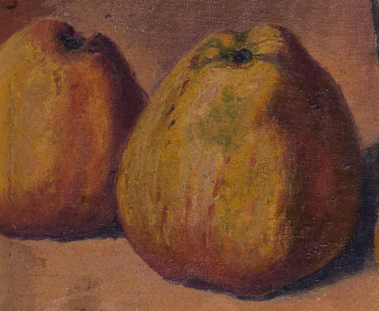 French Impressionist, early 20th Century oil painting of still life with quince For Sale 2