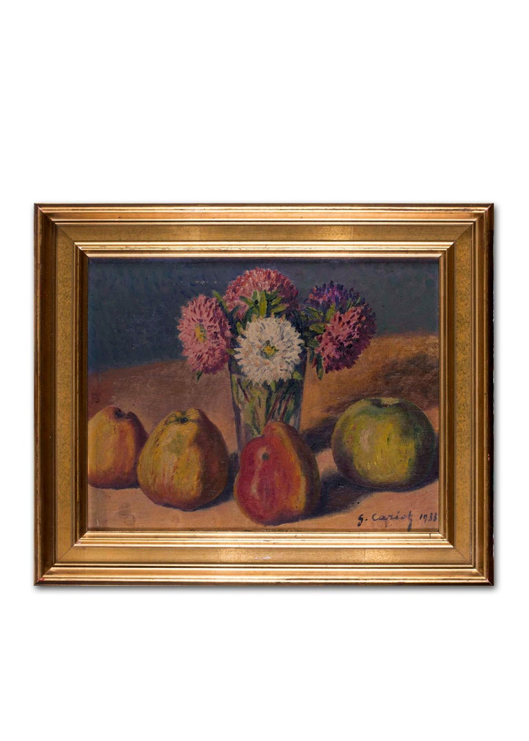 French Impressionist, early 20th Century oil painting of still life with quince For Sale 4