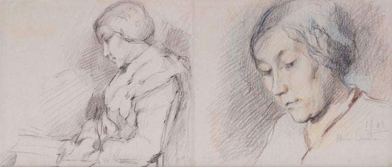 1903 portrait drawing by Marie Laurencin of her mother For Sale 1