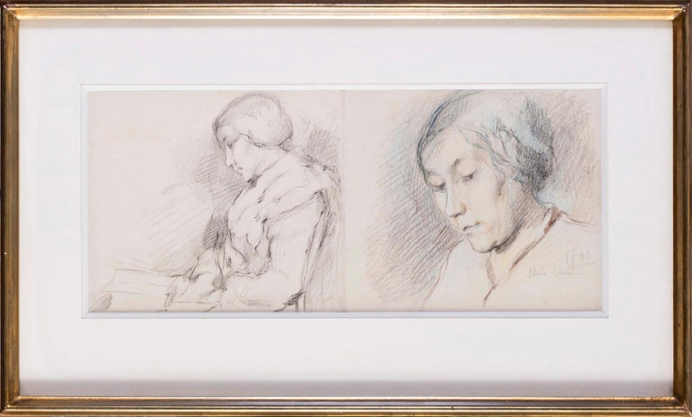 Marie Laurencin (French, 1885 – 1956) Portraits of Pauline Laurencin, the artist's mother with a further study of a child on the reverse Pencil and pastel on paper Signed and dated ' Marie Laurencin, 1903' (lower right) 6.3/4 x 15.5/8 in. (17.3 x 40
