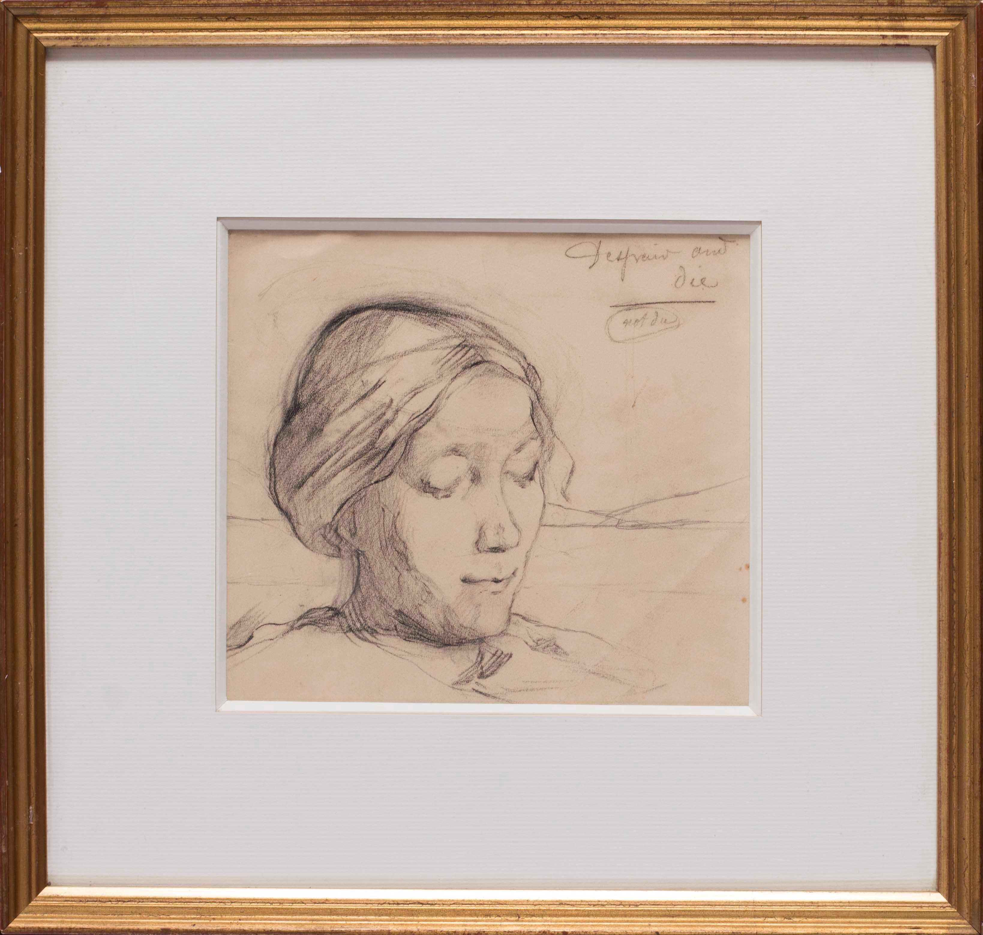 Marie Laurencin portrait drawing of her mother, 1903