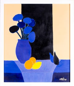 20th Century French blue abstract still life