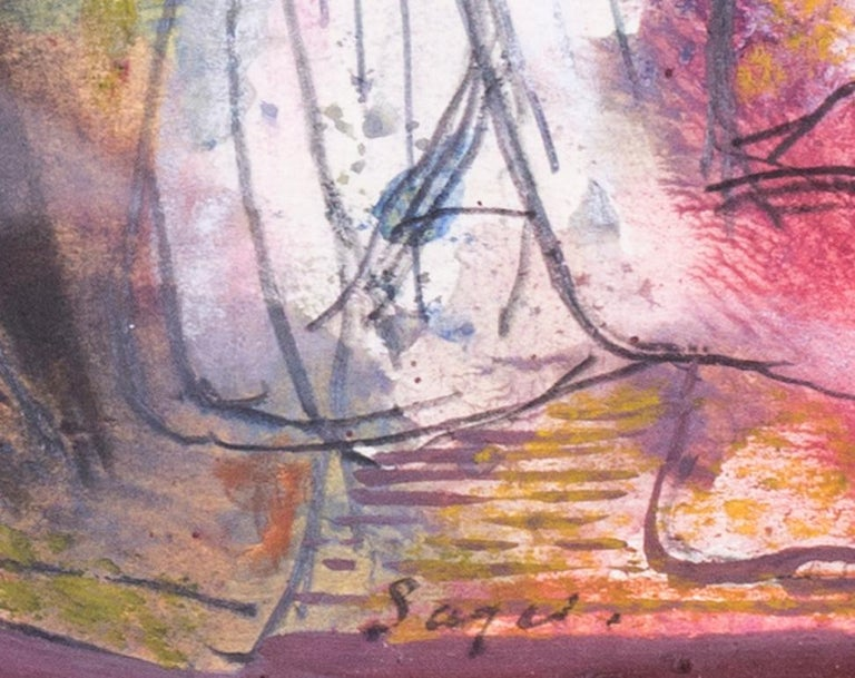 British mid century watercolour of a pair of naked lovers, 1944 For Sale 1