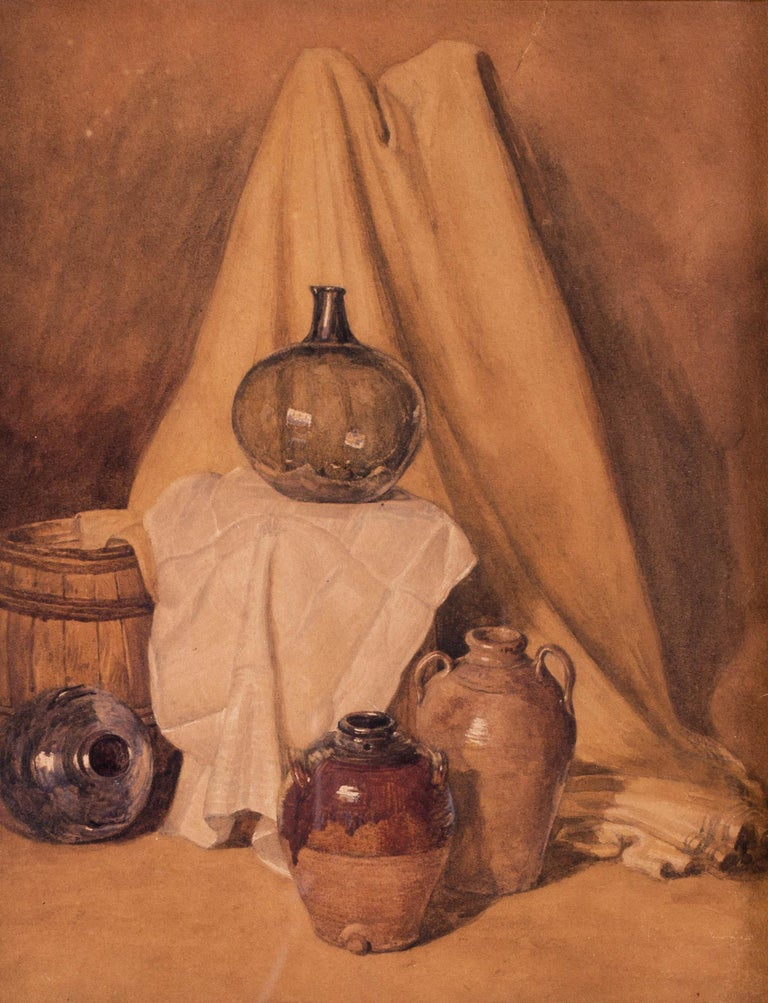 British 19th Century watercolour painting of vessels by Peter de Wint For Sale 1