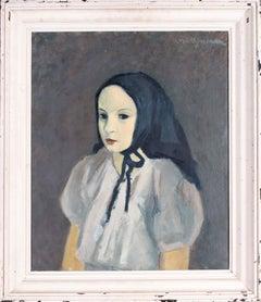 Post Impressionist portrait of Anne Marie by Belgian artist Van Overstraeten