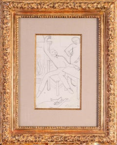 Early 20th Century French drawing by Cubist artist de La Fresnaye