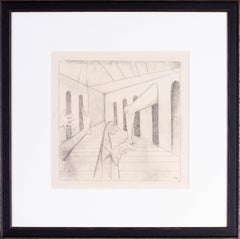 20th Century German Expressionist drawing by Carl Hofer