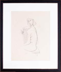 German Expressionist drawing by Carl Hofer of one of his models