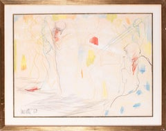 French 20th Century drawing of Dancers at the Jazz club