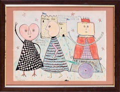 20th Century French Surrealist, avant-garde, naive drawing