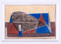 Mid 20th Century French abstract work on paper by Jean Signovert