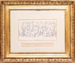 Jacques-Louis David original 18th Century drawing of 'The Young Atheneums'