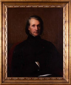 Portrait of Franz Liszt, the Hungarian composer and virtuoso pianist by Scheffer