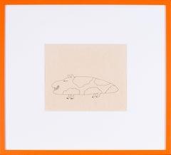 Original Beatles, Yellow Submarine, Sea of Monsters drawing by Heinz Edelmann