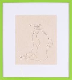 Original Beatles, Yellow Submarine, Sea of Monsters, drawing by Heinz Edelmann