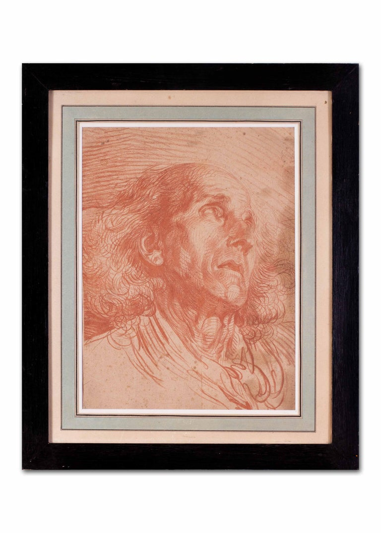 French, old master drawing of a gentleman by Jean-Baptiste Greuze For Sale 6