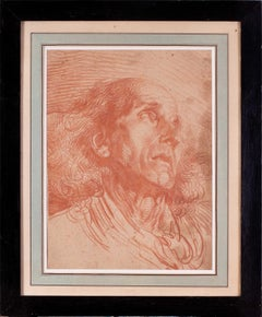 French, old master drawing of a gentleman by Jean-Baptiste Greuze