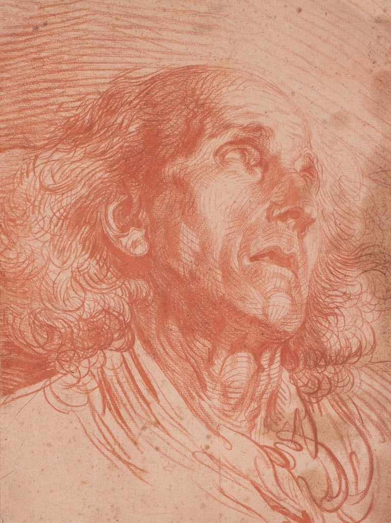 French, old master drawing of a gentleman by Jean-Baptiste Greuze For Sale 1