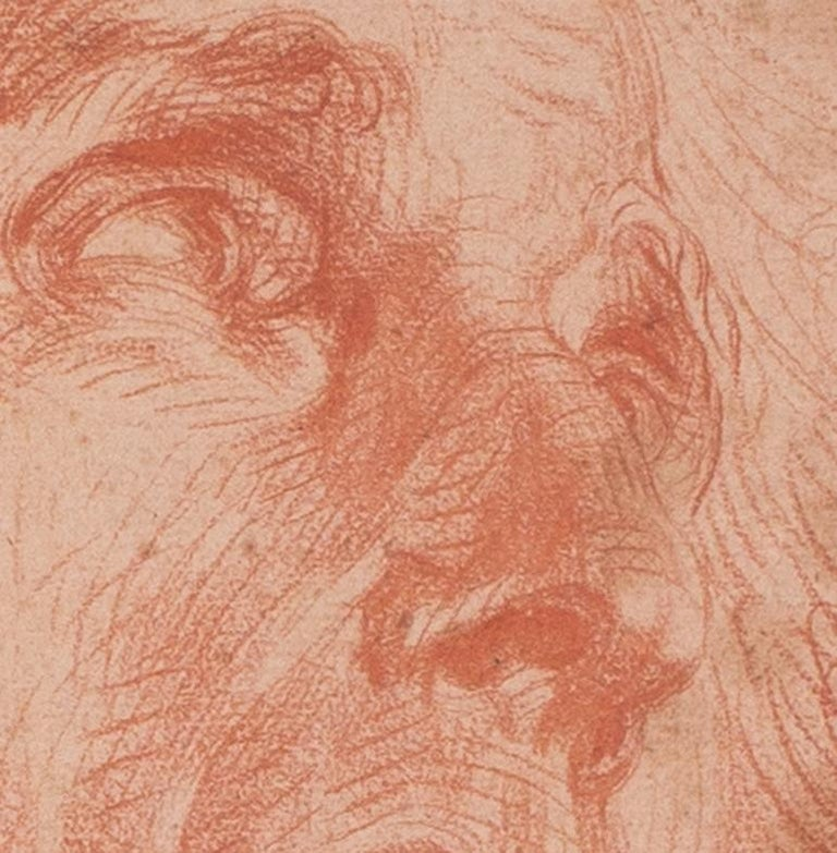 French, old master drawing of a gentleman by Jean-Baptiste Greuze For Sale 2