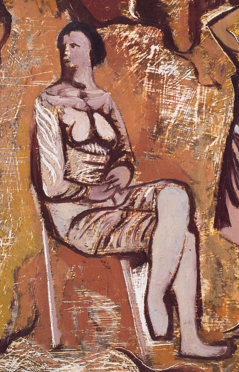 Rare, 20th Century painting by Robert Colquhoun from his 'transition' period For Sale 2