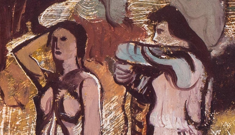 Rare, 20th Century painting by Robert Colquhoun from his 'transition' period For Sale 3