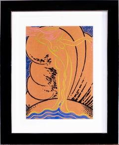Art Deco nude drawing 'Venus a la Coquille'