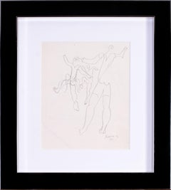 1931 French drawing by Cubist artist Leopold Survage of dancers