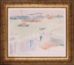 Jean Dufy, 1925 watercolour painting of the port of Le Havre, France