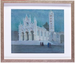 Early British 20th Century watercolours of Siena and Florence in Italy