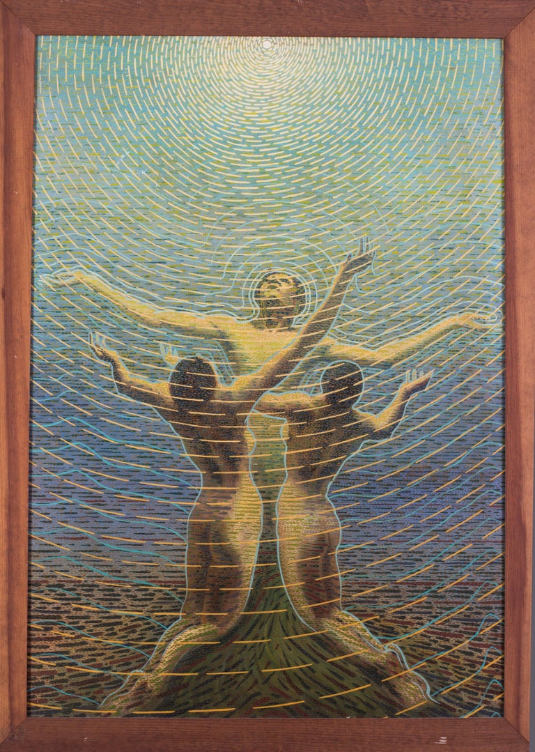 An early 20th Century Futurist Oil Painting by Sexto Canegallo 'A New Dawn' For Sale 4