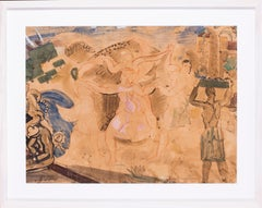Original French 20th Century cubist watercolour by the French painter Latapie