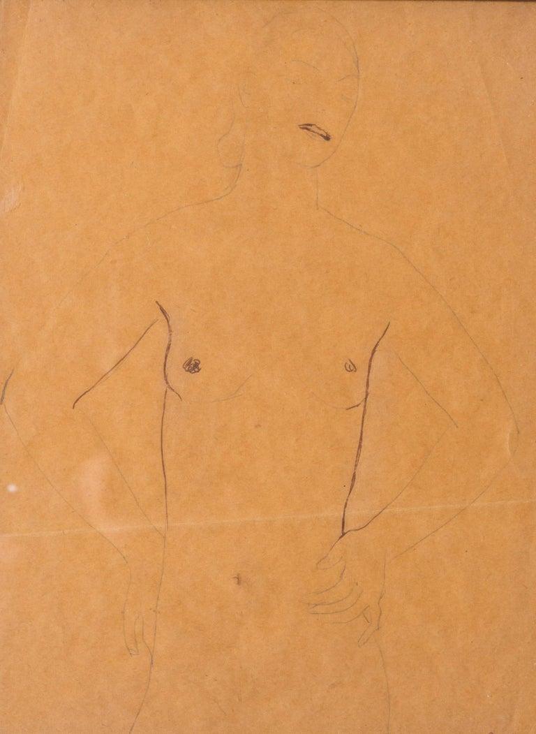 A Post Impressionist study of a nude by Czech artist Georges Kars - Post-Impressionist Art by Georges Kars