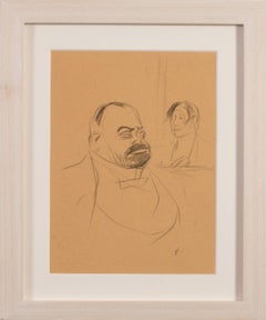 Set of 3 French Impressionist early 20th century drawings by Jean Louis Forain