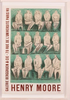 Original exhibition poster for Henry Moore exhibition, 1957 at Galerie Berggruen