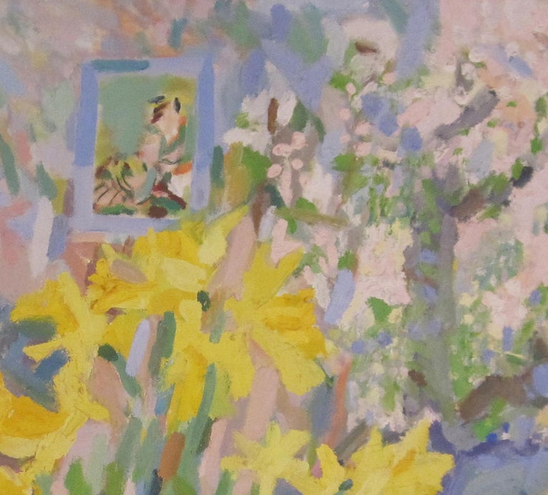 British Contemporary oil painting of Daffodils by artist Rosie Montford For Sale 1