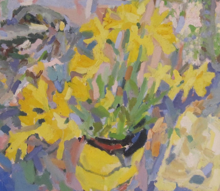 British Contemporary oil painting of Daffodils by artist Rosie Montford For Sale 2