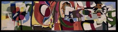 A long mid 20th Century tapestry by French artist Pierre Jourda